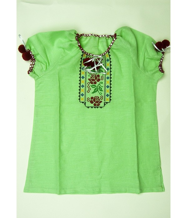 Рубашка вышитая на девочку М-506-5, Рубашка вышитая на девочку М-506-5 купити