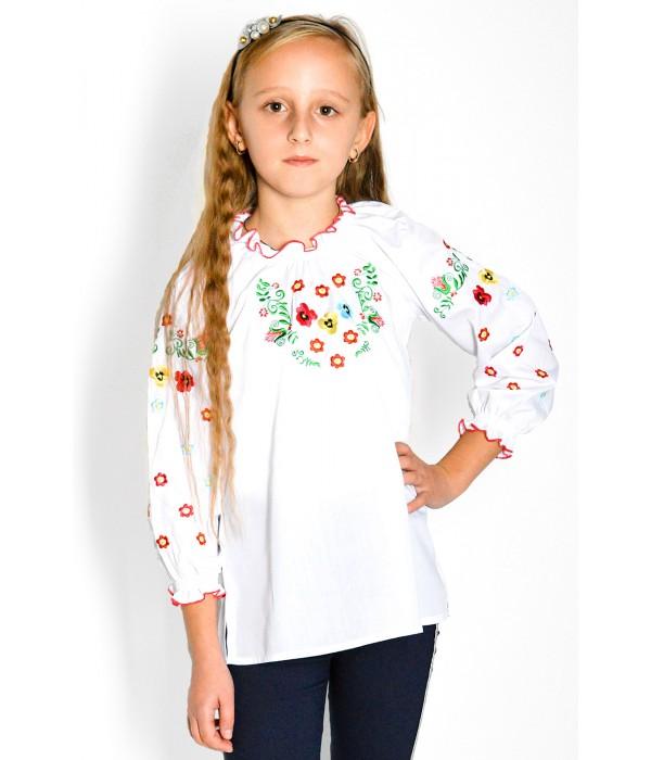 Рубашка вышитая на девочку М-533, Рубашка вышитая на девочку М-533 купити