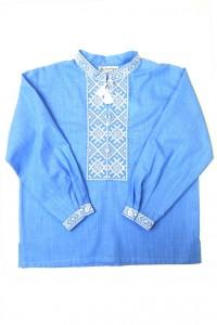 Дитяча сорочка голубого кольору М-1002-2