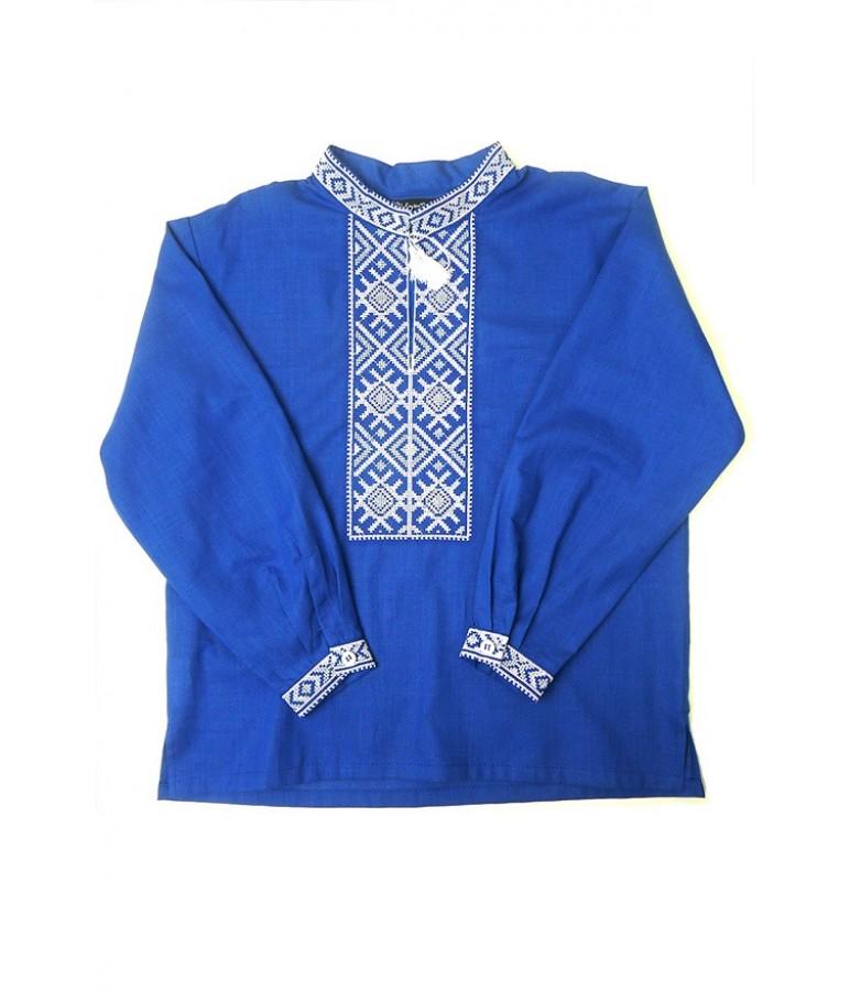 Дитяча сорочка синього кольору М-1002-3 купити у Львові 9dbd6f999a126
