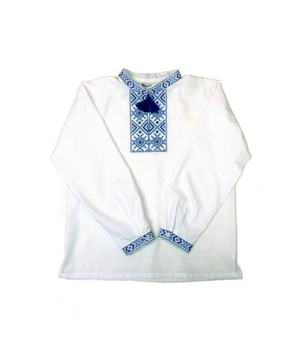 Детская рубашка из натуральной ткани М-1002-4, Детская рубашка из натуральной ткани М-1002-4 купити