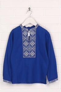 Дитяча сорочка синього кольору М-1002-3