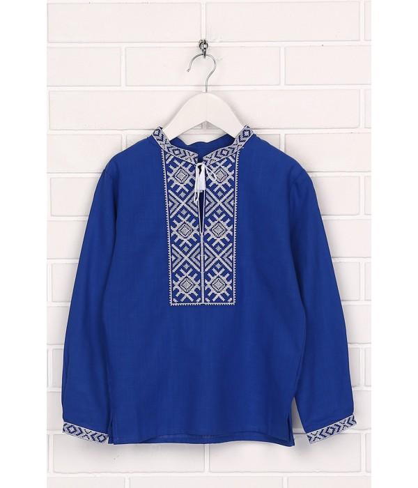 Дитяча сорочка синього кольору М-1002-3, Дитяча сорочка синього кольору М-1002-3 купити