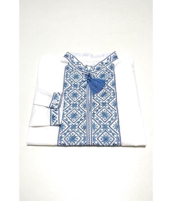 Дитяча сорочка білого кольору М-1012-1, Дитяча сорочка білого кольору М-1012-1 купити