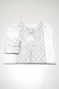 Дитяча сорочка білого кольору М-1012