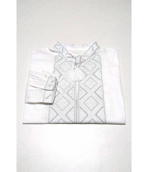 Дитяча сорочка білого кольору М-1012, Дитяча сорочка білого кольору М-1012 купити