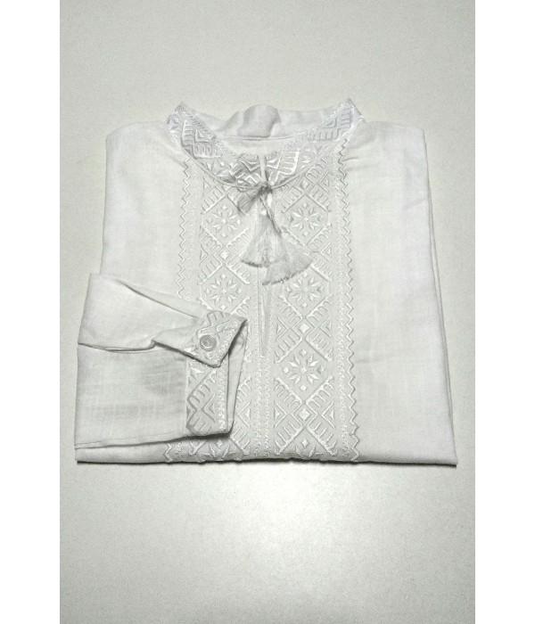 Дитяча сорочка білого кольору М-2014, Дитяча сорочка білого кольору М-2014 купити