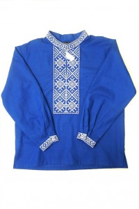 Детская рубашка синего цвета М-1002-3