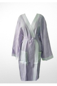 Халат Фіолетовий Банний 100% Льон