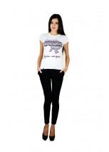 """Жіноча патріотична футболка """"Україна моя країна"""" біла М-958-1"""