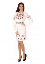 Платье вышитое женское М-1034