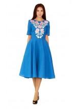 Платье вышитое женское М-1041