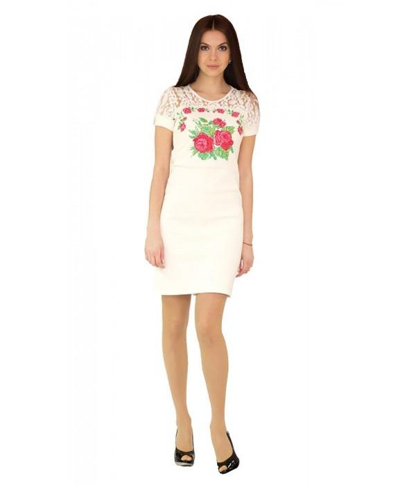Платье вышитое женское М-1042-1, Платье вышитое женское М-1042-1 купити