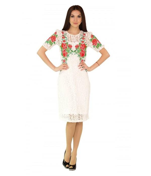 Платье вышитое женское М-1043-1, Платье вышитое женское М-1043-1 купити