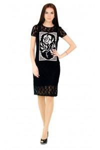 Платье вышитое женское М-1044