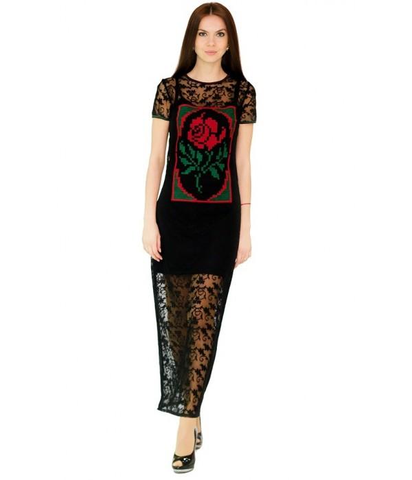 Платье вышитое женское М-1044-5, Платье вышитое женское М-1044-5 купити