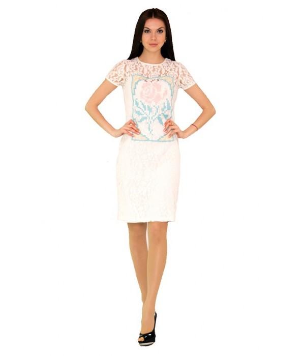 Платье вышитое женское М-1044-4, Платье вышитое женское М-1044-4 купити