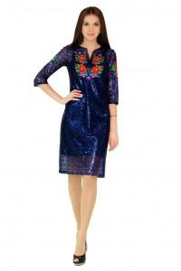 Платье вышитое женское М-1048-1