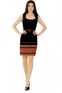Платье вышитое женское М-1049