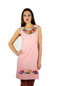 Плаття m-1051-97 (Оранжево-фіолетового кольору)