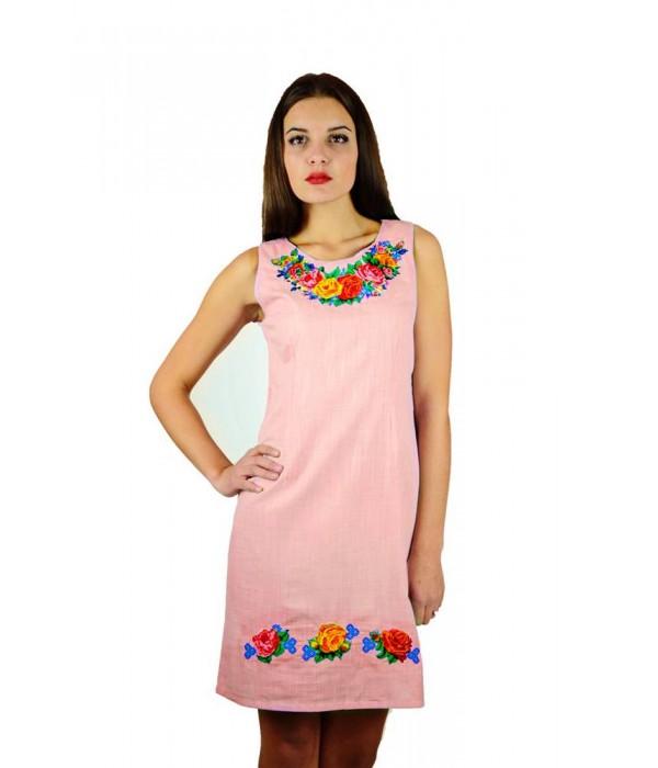 Плаття m-1051-97 (Оранжево-фіолетового кольору), Плаття m-1051-97 (Оранжево-фіолетового кольору) купити