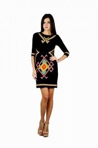 Платье вышитое женское М-1055-1