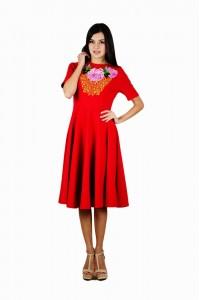 Платье вышитое женское М-1056-2