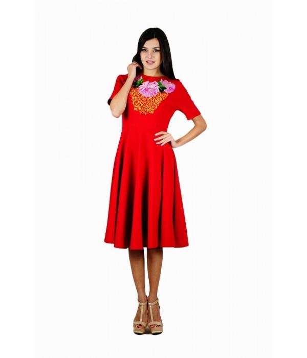 Платье вышитое женское М-1056-2, Платье вышитое женское М-1056-2 купити
