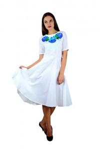 Платье вышитое женское М-1056-4
