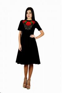 Платье вышитое женское М-1056