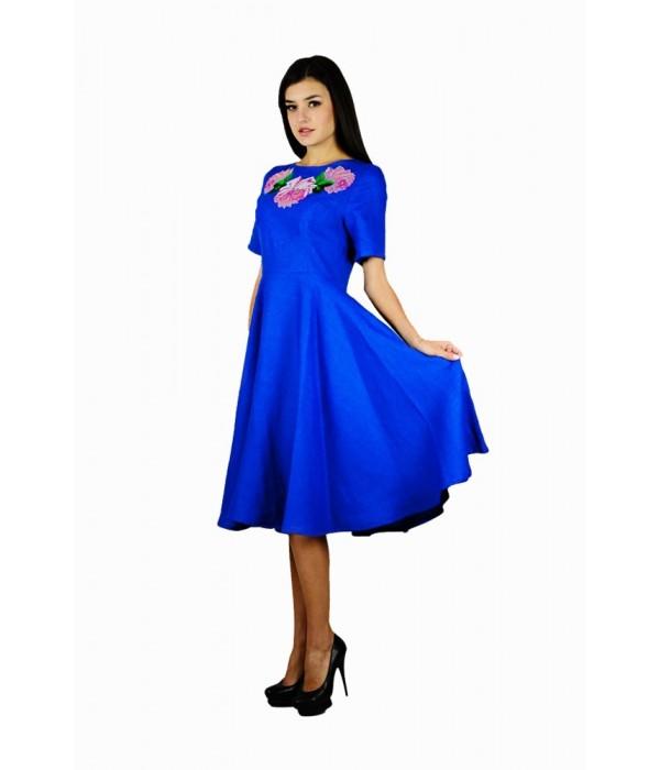 Платье вышитое женское М-1056-1, Платье вышитое женское М-1056-1 купити