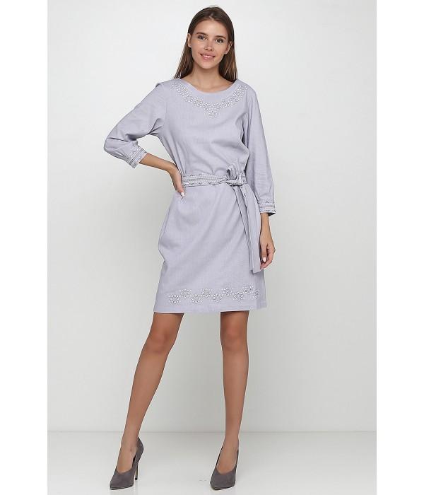 Платье вышитое женское М-1017-2, Платье вышитое женское М-1017-2 купити