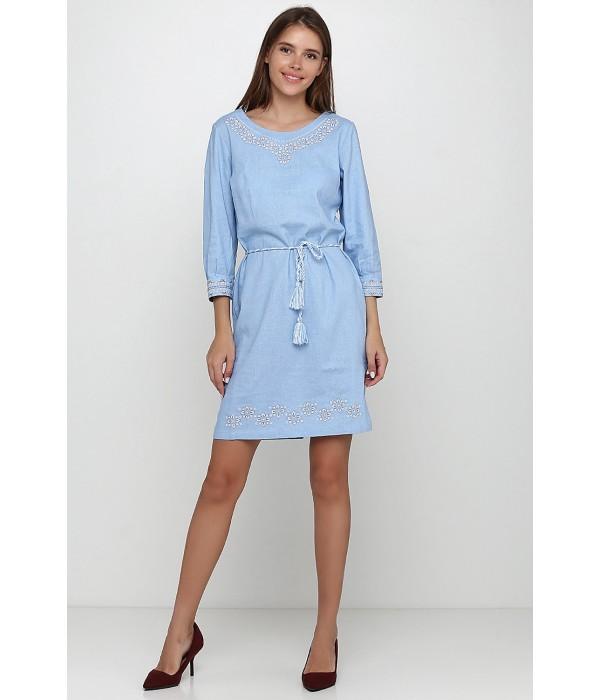 Платье вышитое женское М-1017-3, Платье вышитое женское М-1017-3 купити