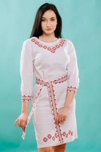 Платье вышитое женское М-1017