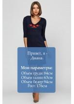 """Плаття вишите Етномодерн  """"Маки 3D"""" М-1025-1"""
