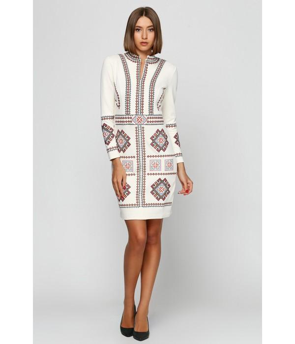 Платье Карпатское М-1026-3 Молочного кольору, Платье Карпатское М-1026-3 Молочного кольору купити