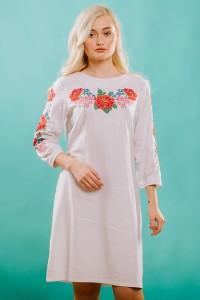 Платье вышитое крестиком М-1027-1