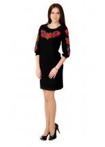 Платье вышитое крестиком М-1027-2