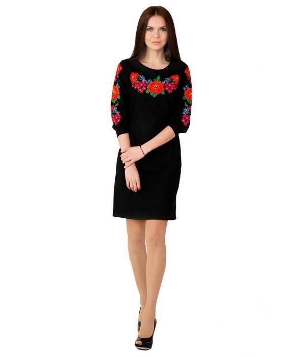 Платье вышитое крестиком М-1027-2, Платье вышитое крестиком М-1027-2 купити