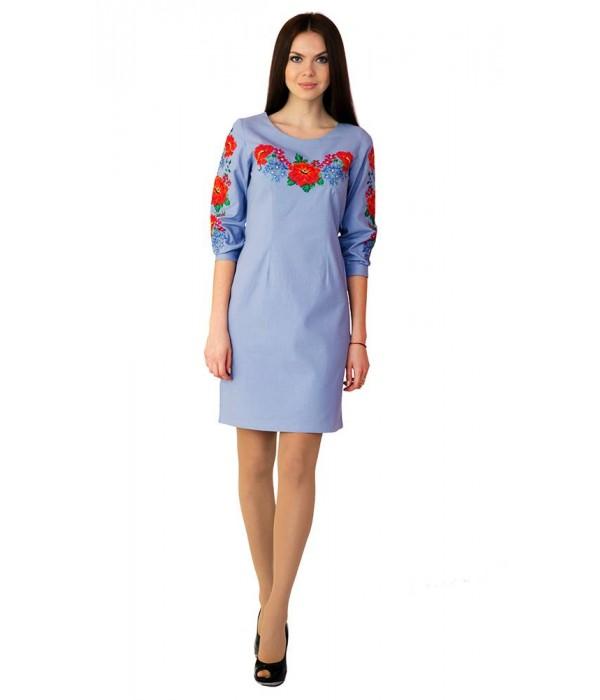 Платье вышитое крестиком М-1027-3, Платье вышитое крестиком М-1027-3 купити