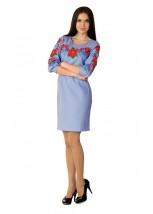 Платье вышитое крестиком М-1027-3