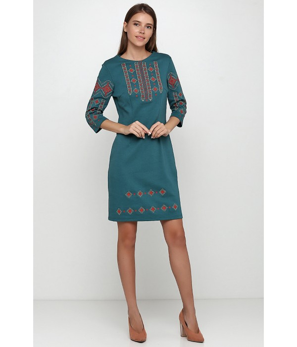 Платье вышитое женское М-1033-11, Платье вышитое женское М-1033-11 купити