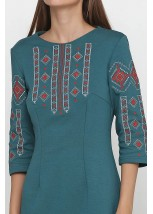 Платье вышитое женское М-1033-12