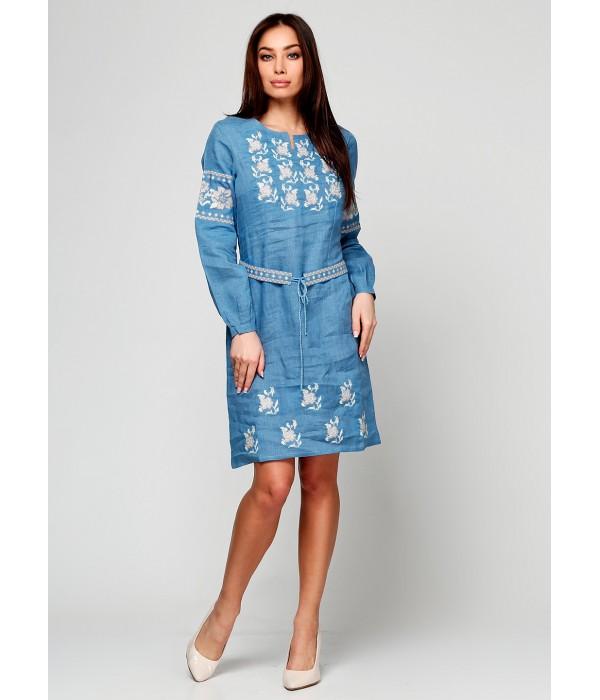 Платье вышитое женское М-1034-2, Платье вышитое женское М-1034-2 купити