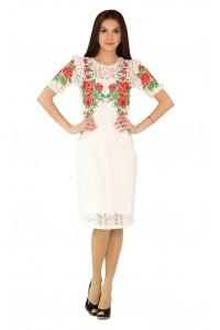Платье вышитое женское М-1043-1