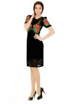 Платье вышитое женское М-1043