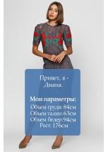 Платье вышитое женское М-1043-4