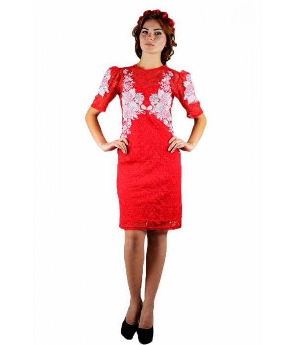 Платье вышитое женское М-1043-2, Платье вышитое женское М-1043-2 купити