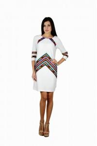 Платье вышитое женское М-1054