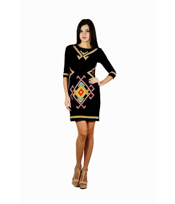 Платье вышитое женское М-1055-1, Платье вышитое женское М-1055-1 купити
